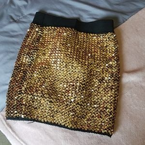 Forever 21 Skirts - Gold Mini Skirt